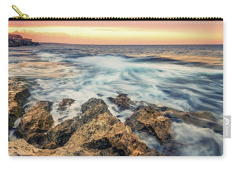 Sunset Carry-all Pouch featuring the photograph Leading Lines by Ahmed Shanab