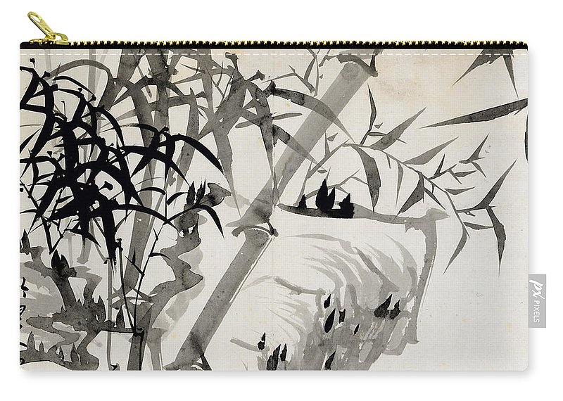 Leaf Carry-all Pouch featuring the painting Leaf C by Rang Tian