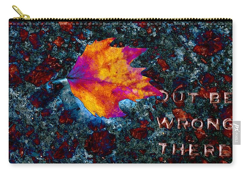 Leaf Carry-all Pouch featuring the digital art Leaf On Stone by Tim Allen
