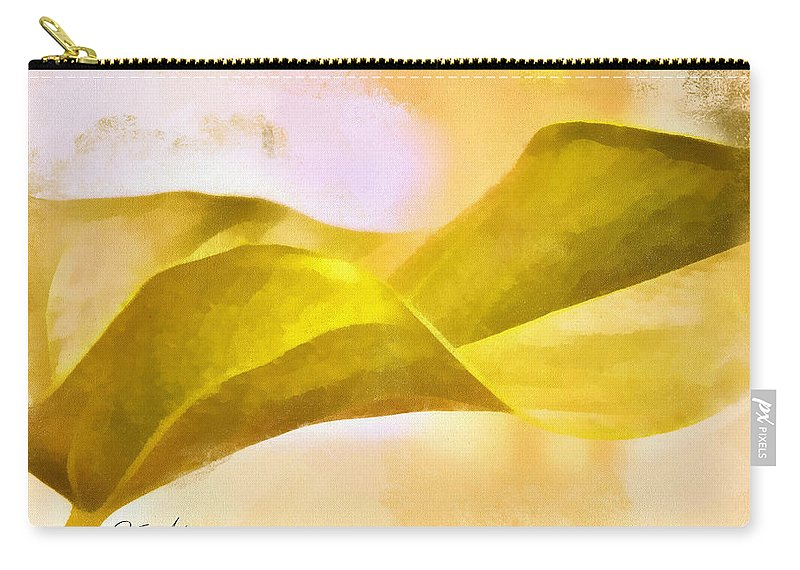 Leaf Y Carry-all Pouch featuring the digital art Leaf Y by Nhi Ho