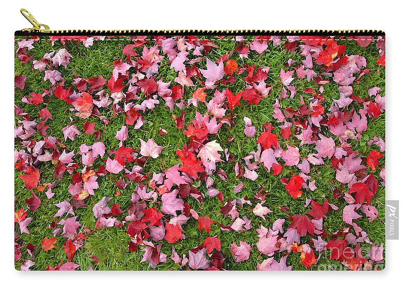 Leafs Carry-all Pouch featuring the photograph Leafs On Grass by David Lee Thompson