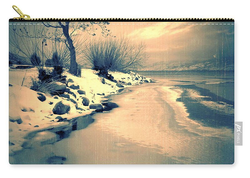 Tree Carry-all Pouch featuring the photograph Leaning by Tara Turner