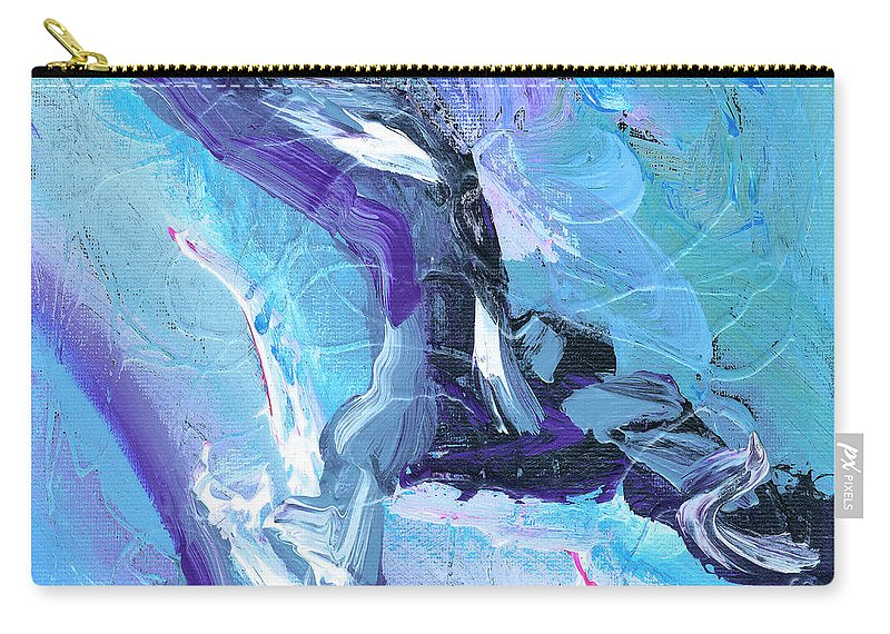 Lleap Carry-all Pouch featuring the painting Leap by Dominic Piperata