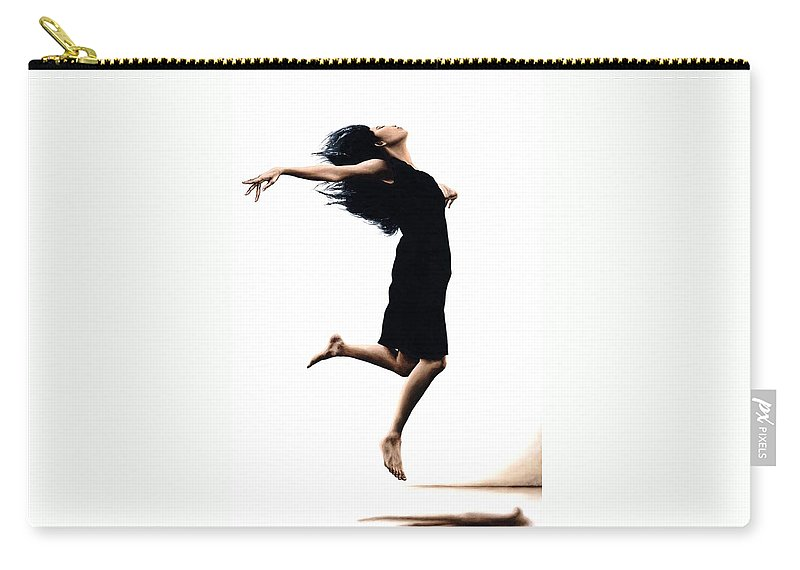 Ballet Carry-all Pouch featuring the painting Leap into the Unknown by Richard Young
