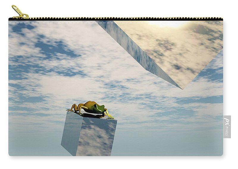 Surrealism Carry-all Pouch featuring the digital art Leaps And Bounds by Richard Rizzo
