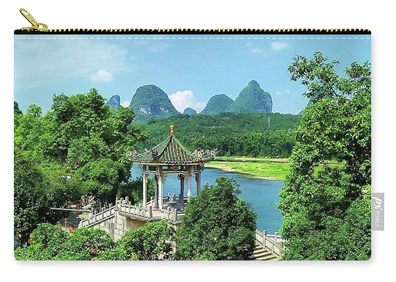 Photography Carry-all Pouch featuring the photograph A View in Yangshuo by Kelly Santana