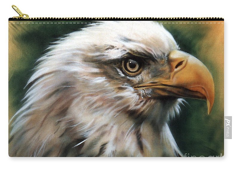 Southwest Art Carry-all Pouch featuring the painting Leather Eagle by J W Baker