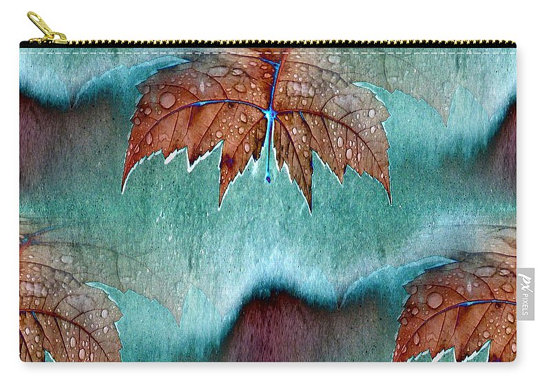 Leaves Carry-all Pouch featuring the photograph Leaves And Rain 6 by Tim Allen