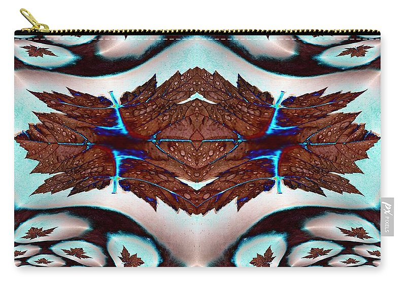 Leaf Carry-all Pouch featuring the photograph Leaves And Rain by Tim Allen