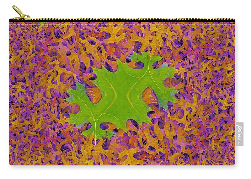 Leaves Carry-all Pouch featuring the photograph Leaves In Fractal 2 by Tim Allen