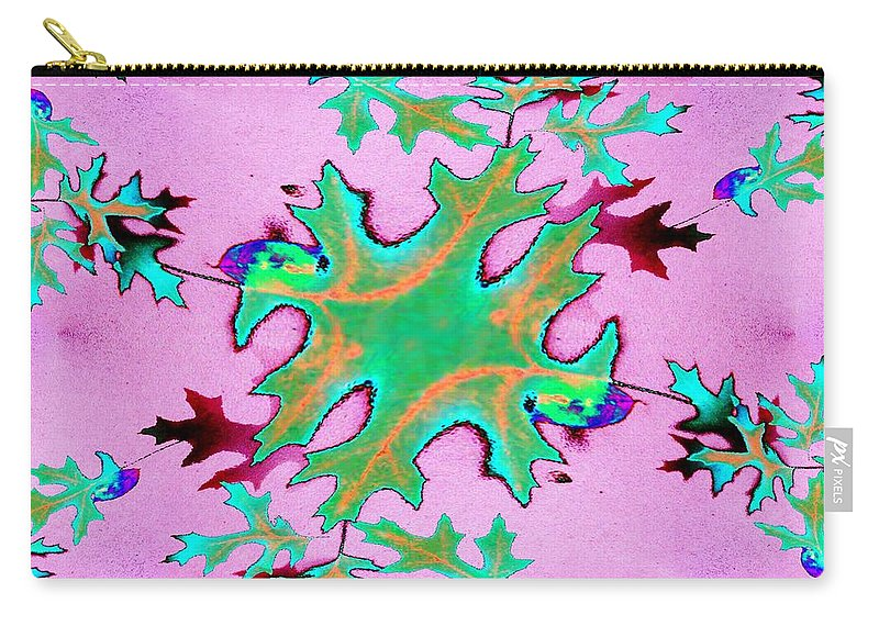 Leaf Carry-all Pouch featuring the photograph Leaves In Fractal by Tim Allen