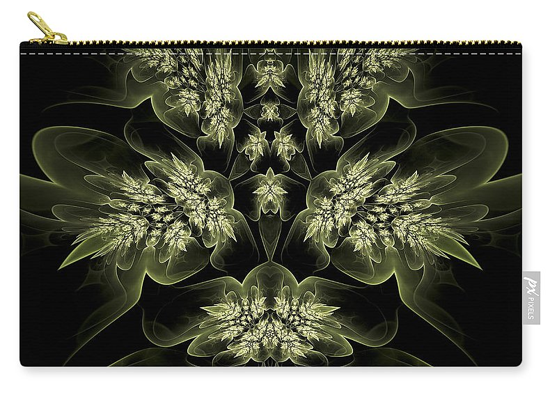 Fractal Carry-all Pouch featuring the digital art Leaves Of Green by Amorina Ashton