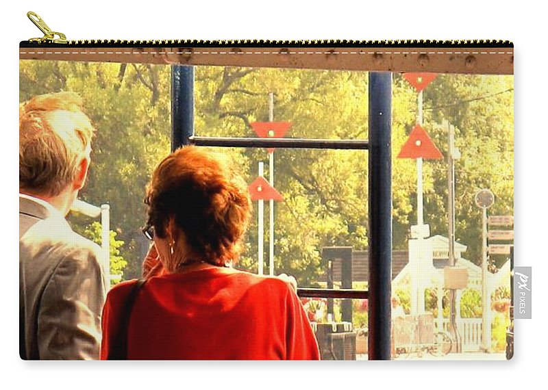 Toronto Carry-all Pouch featuring the painting Leaving by Ian MacDonald