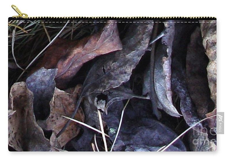 Leaves Carry-all Pouch featuring the photograph Leavings by Ron Bissett