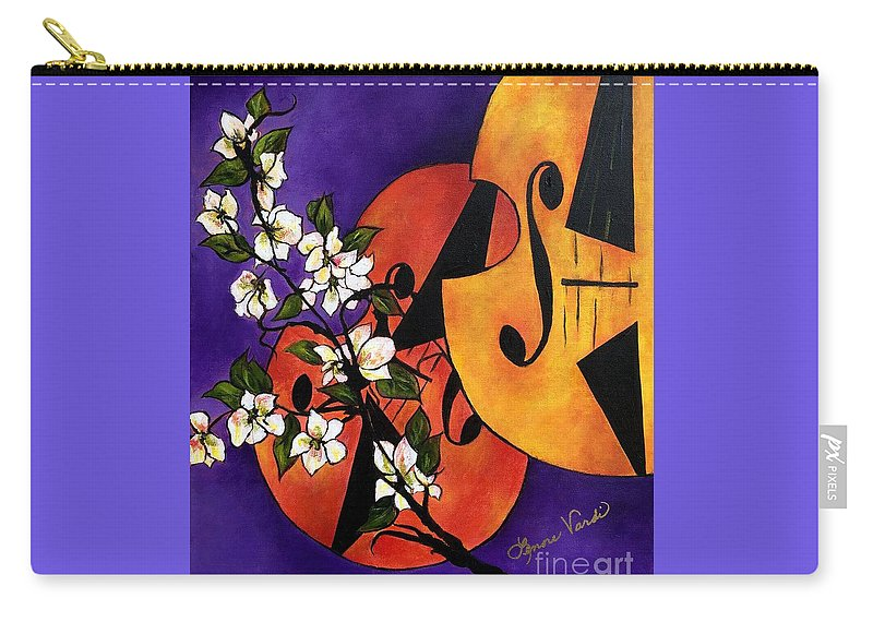 Musical Gifts Carry-all Pouch featuring the painting Leclair Sonata by Lenore Vardi