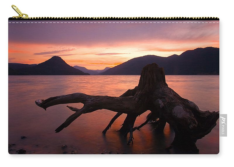 Stump Carry-all Pouch featuring the photograph Left Behind by Mike Dawson