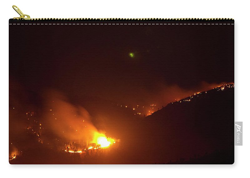 Lefthand Canyon Wildfire Carry-all Pouch featuring the photograph Lefthand Canyon Wildfire Flare Up Boulder County Colorado by James BO Insogna