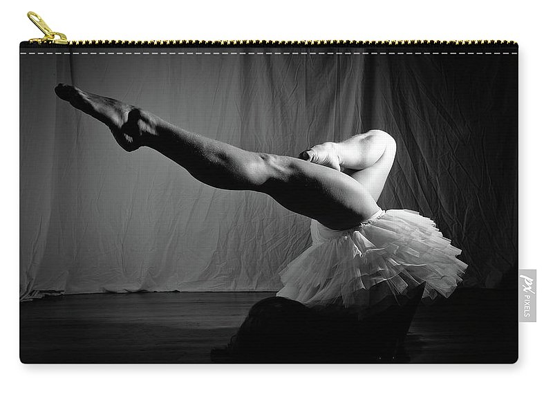 Dance Carry-all Pouch featuring the photograph Leg Stretch by Scott Sawyer