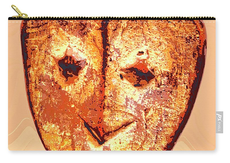 Africa Carry-all Pouch featuring the mixed media Lega Figure by Dominic Piperata