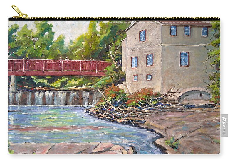 Mill Carry-all Pouch featuring the painting Legare Mill by Richard T Pranke