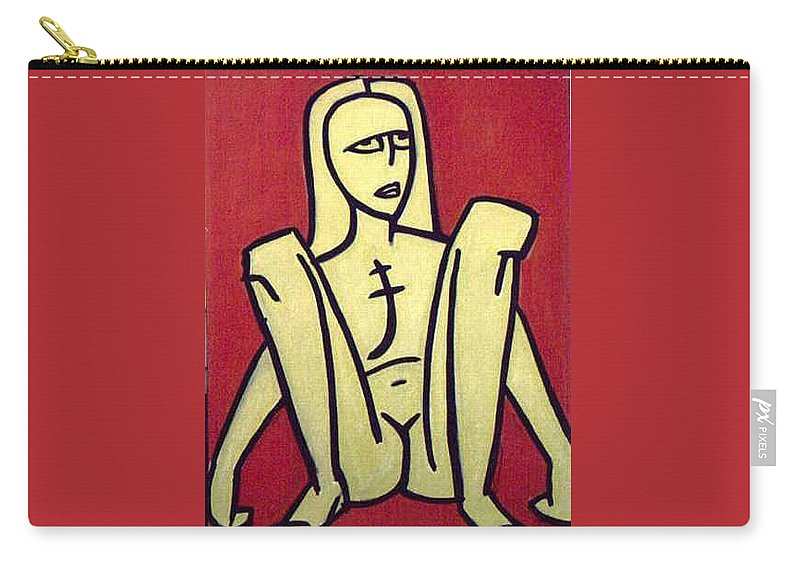 Nude Carry-all Pouch featuring the painting Legs by Thomas Valentine