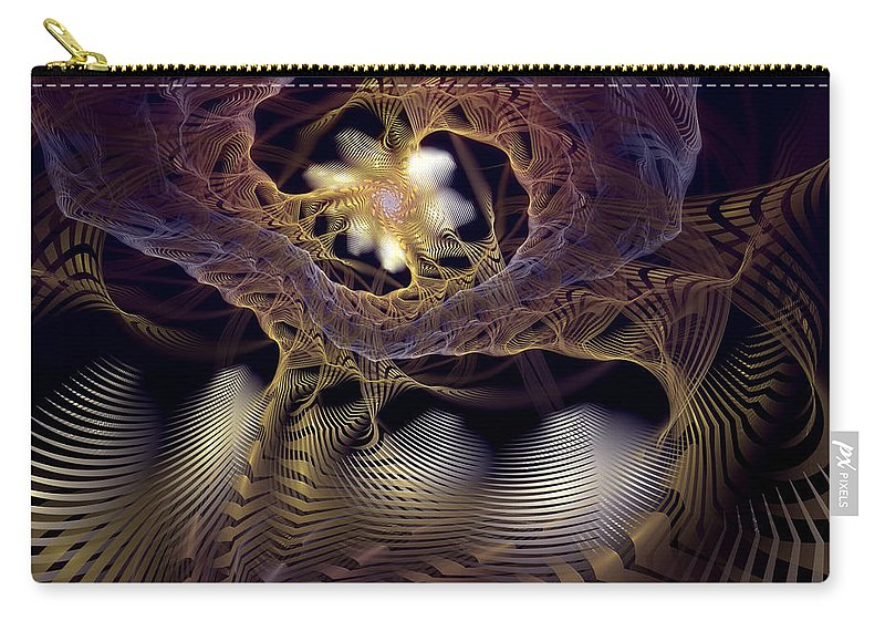 Abstract Carry-all Pouch featuring the digital art Leitmotif Number Two by Casey Kotas