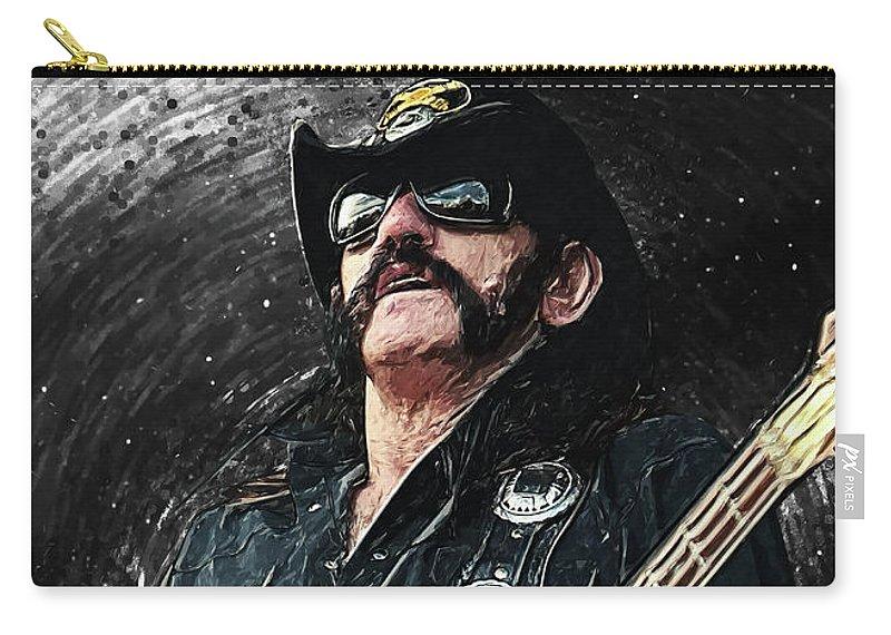 Lemmy Carry-all Pouch featuring the digital art Lemmy by Zapista OU