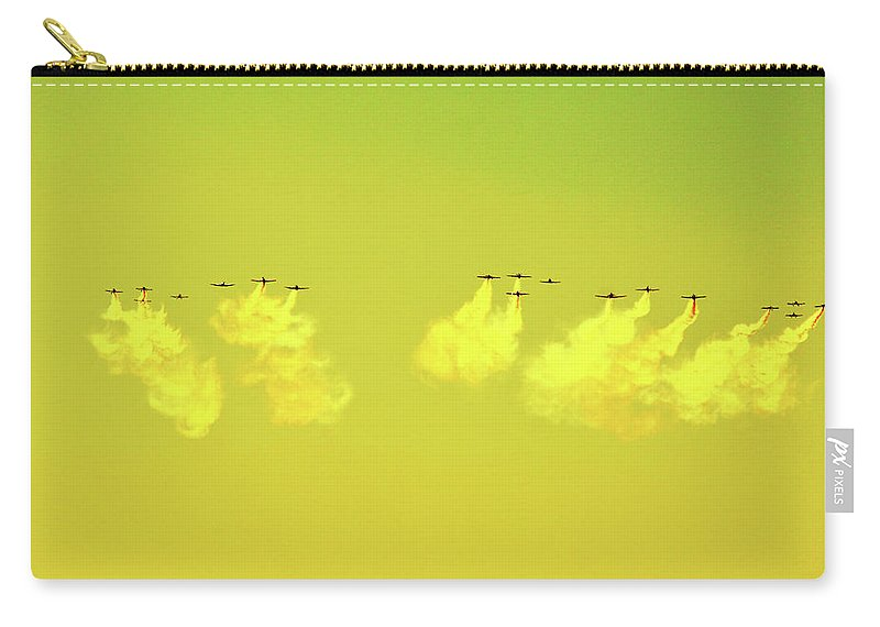 Air Show Carry-all Pouch featuring the photograph Lemon-lime Skies by Robert Lowe