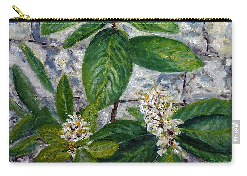 Landscape Carry-all Pouch featuring the painting Lemon Tree by Pablo de Choros