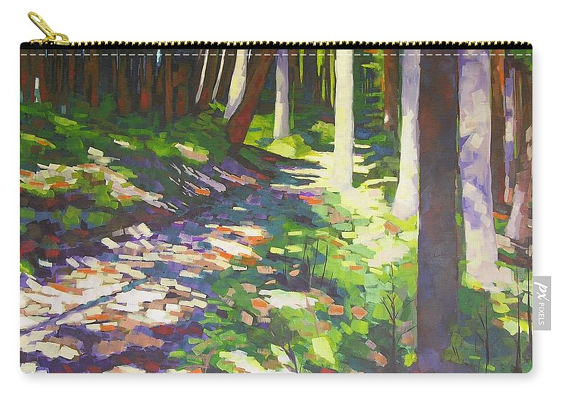 Landscape Carry-all Pouch featuring the painting Lena Lake Trail I by Mary McInnis