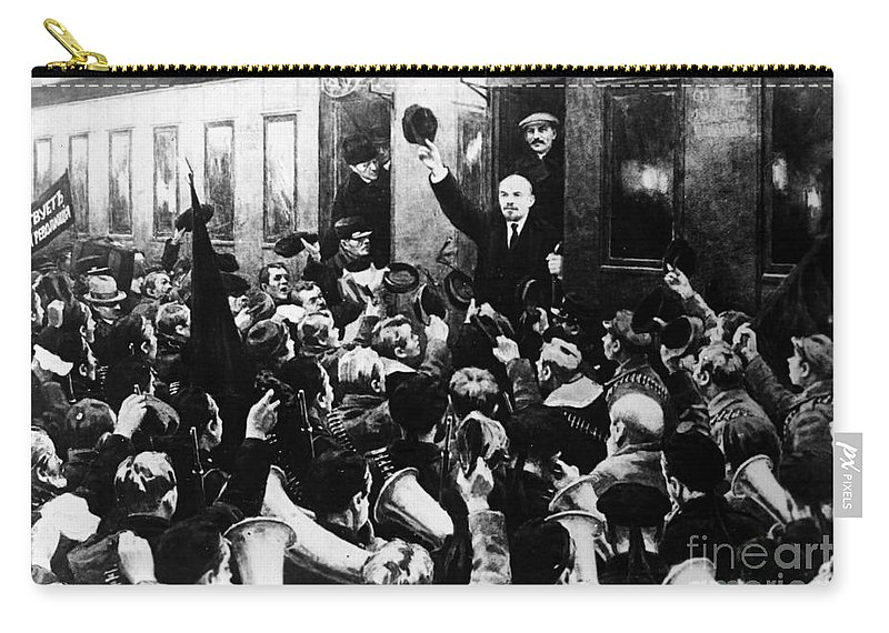 1930s Carry-all Pouch featuring the photograph Lenin At Finland Station by Granger