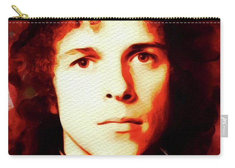 Leo Carry-all Pouch featuring the painting Leo Sayer, Music Legend by John Springfield