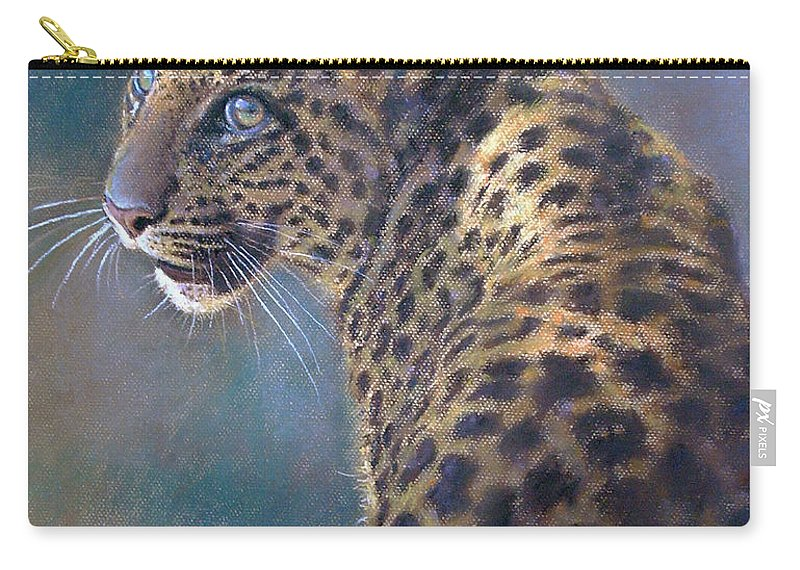 Cats Carry-all Pouch featuring the pastel Leopard by Iliyan Bozhanov