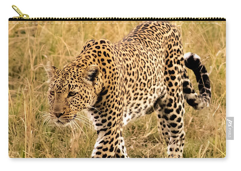 Leopard Carry-all Pouch featuring the photograph Leopard by Mauverneen Blevins