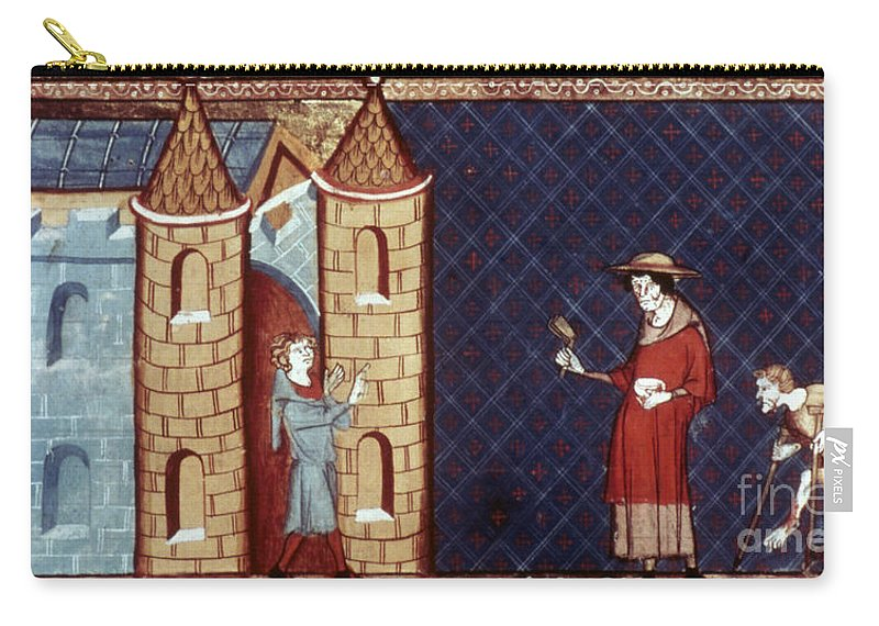 13th Century Carry-all Pouch featuring the photograph Leper House, C1220-1244 by Granger