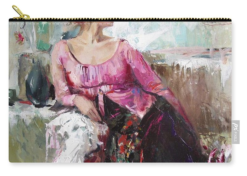 Ignatenko Carry-all Pouch featuring the painting Lera by Sergey Ignatenko
