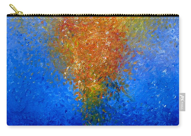 Abstract Carry-all Pouch featuring the painting Les Fleurs by Naomi Silver
