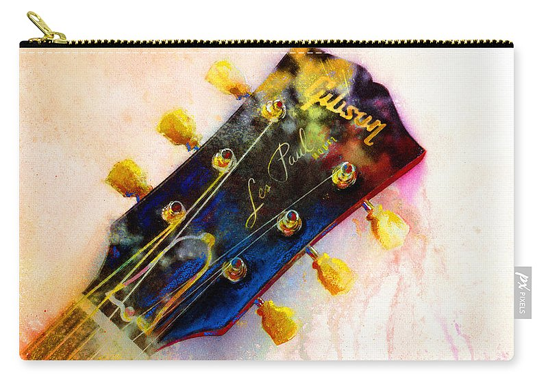 Guitar Art Carry-all Pouch featuring the painting Les Is More by Andrew King