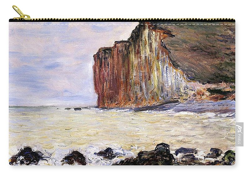 French Carry-all Pouch featuring the painting Les Petites Dalles by Claude Monet