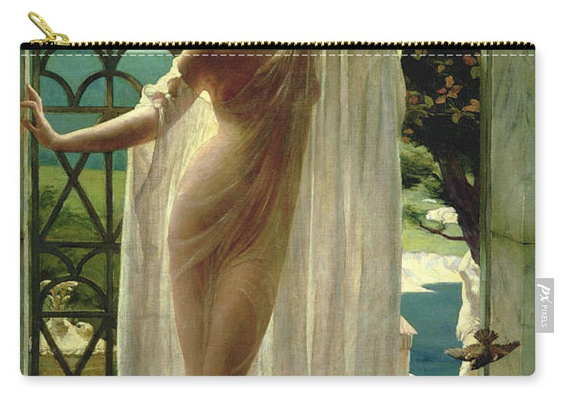 Lesbia Carry-all Pouch featuring the painting Lesbia by John Reinhard Weguelin