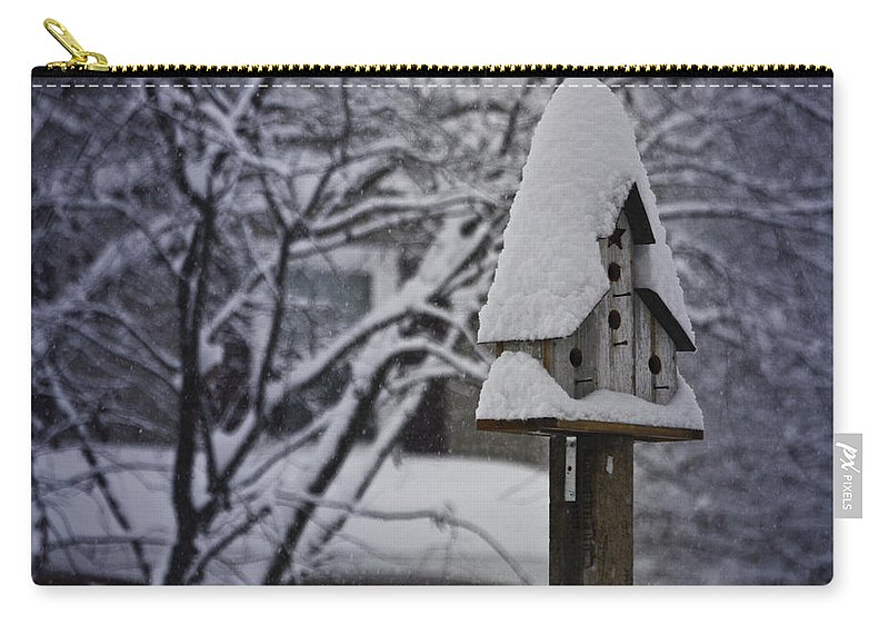 Snow Carry-all Pouch featuring the photograph Let It Snow by Teresa Mucha