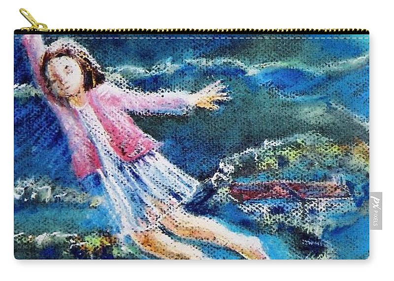 Fantasy Carry-all Pouch featuring the painting Let Me Play Among The Stars by Trudi Doyle