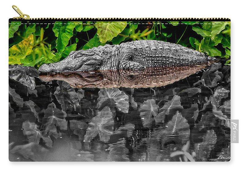 American Carry-all Pouch featuring the photograph Let Sleeping Gators Lie - Mod by Christopher Holmes