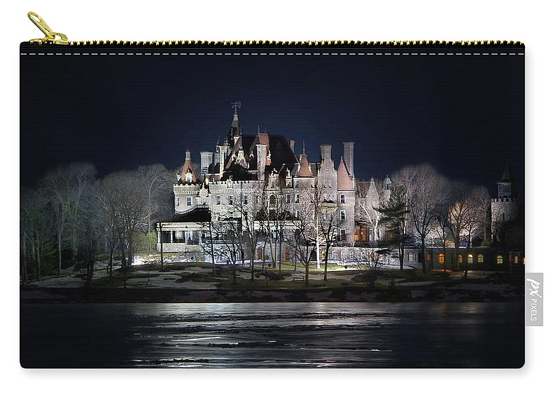 Boldt Castle Carry-all Pouch featuring the photograph Let The Light On by Lori Deiter