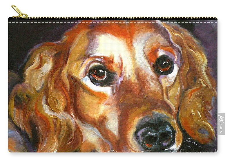 Oil Carry-all Pouch featuring the painting Let The Sunshine In by Susan A Becker