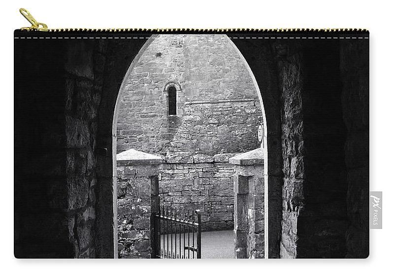 Irish Carry-all Pouch featuring the photograph Let There Be Light Cong Church And Abbey Cong Ireland by Teresa Mucha
