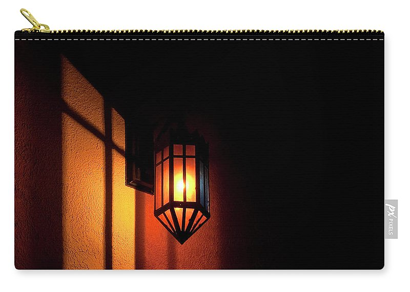 Festblues Carry-all Pouch featuring the photograph Let There Be Light.. by Nina Stavlund