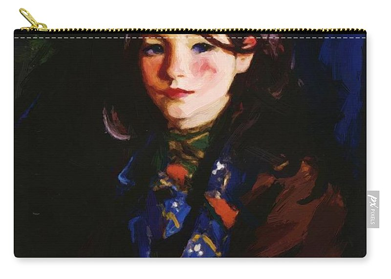 Letecia Carry-all Pouch featuring the painting Letecia 1925 by Henri Robert