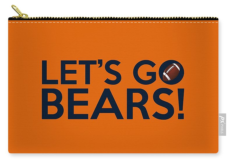 Chicago Bears Carry-all Pouch featuring the painting Let's Go Bears by Florian Rodarte