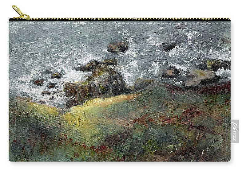 Coastal Carry-all Pouch featuring the painting Lets Go Coastal by Frances Marino